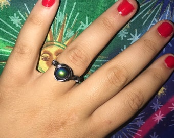 color shift wire wrapped ring