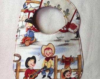 Little Cowboys Retro Infant Bib