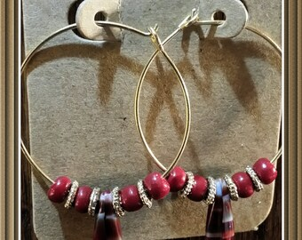 Red and Charcoal Hoops