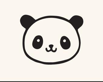 cute panda clipart etsy rh etsy com Cute Cartoon Panda Kawaii Cute Panda