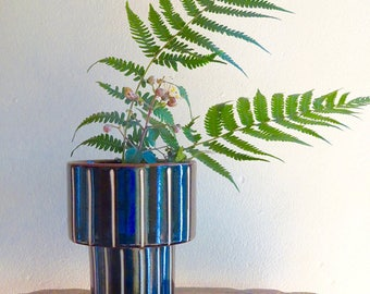 Vertical Ridges Japanese Vase