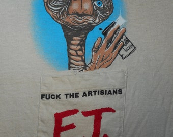 E.T. F@ck Artisan Beer T Shirt Size Small Coors Beer