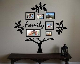 Family Tree Vinyl Wall Sticker Decal (B)