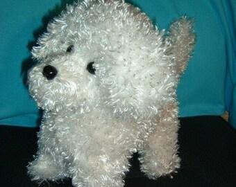 Bichon Puppy Dog Stuffed Animal Pattern to Sew Instant Download