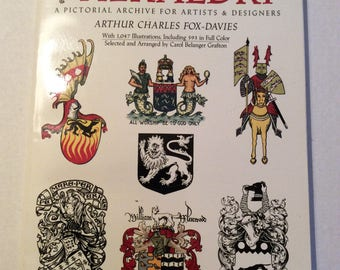 Heraldry, A Pictorial Archive For Artists and Designers,Illustrations,Copyright Free Images,Dover Publicatiions,Artist Book,Royalty