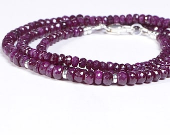 Reserved- Ruby Necklace Sterling silver 20 inch
