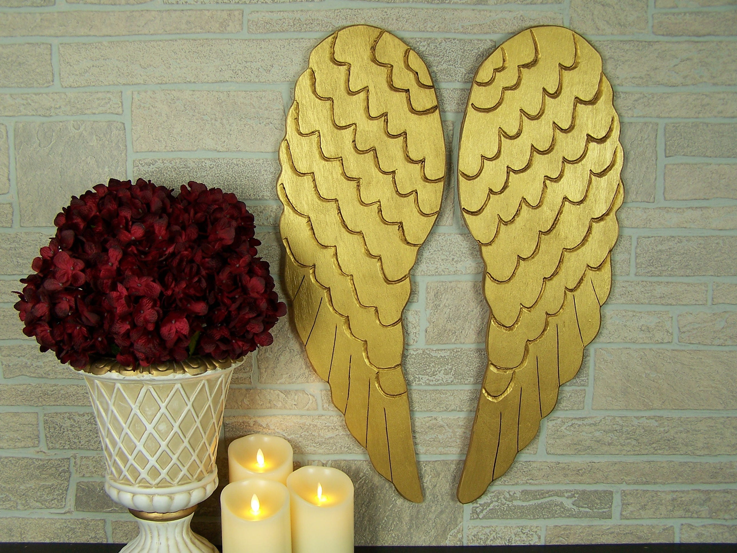 Modern Angel Wings Wall Decor Mold - The Wall Art Decorations ...