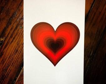 Dark Heart Card - Set of 3