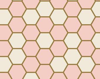 Hex Rose Fabric