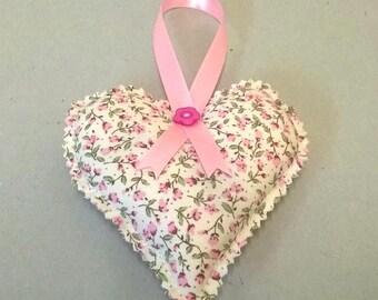 Heart lavender bag, floral lavender sachet, hanging heart, heart lavender sachet, floral scented bag, handmade in the UK, Valentines gift