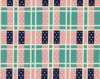 Cotton + Steel - Kim Kight - Lucky Strikes - Domino Plaid Turquoise