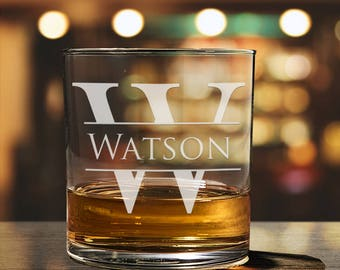 Whiskey Glass, Personalized Gift, Groomsmen Gifts, Rocks Glass, Whiskey Decanter, Scotch Glass, Wedding Gift,  PTWG001