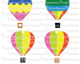 hot air balloon,  UNLIMITED use, cut file, silhouette cameo file, SVG cutting file