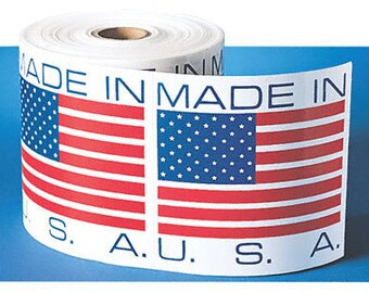 Made in USA stickers square labels 17mm - 10 pieces (1304)