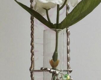 Stained Glass Hanging Bud Vase test tube vase
