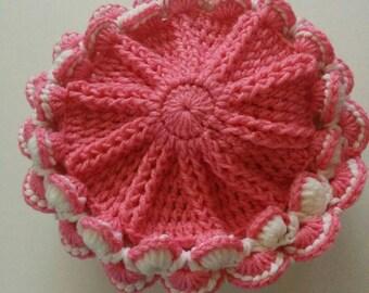 Strawberry Cupcake CrochetHat/Winter fashion 2018/fashionista/Cozy/Warm/