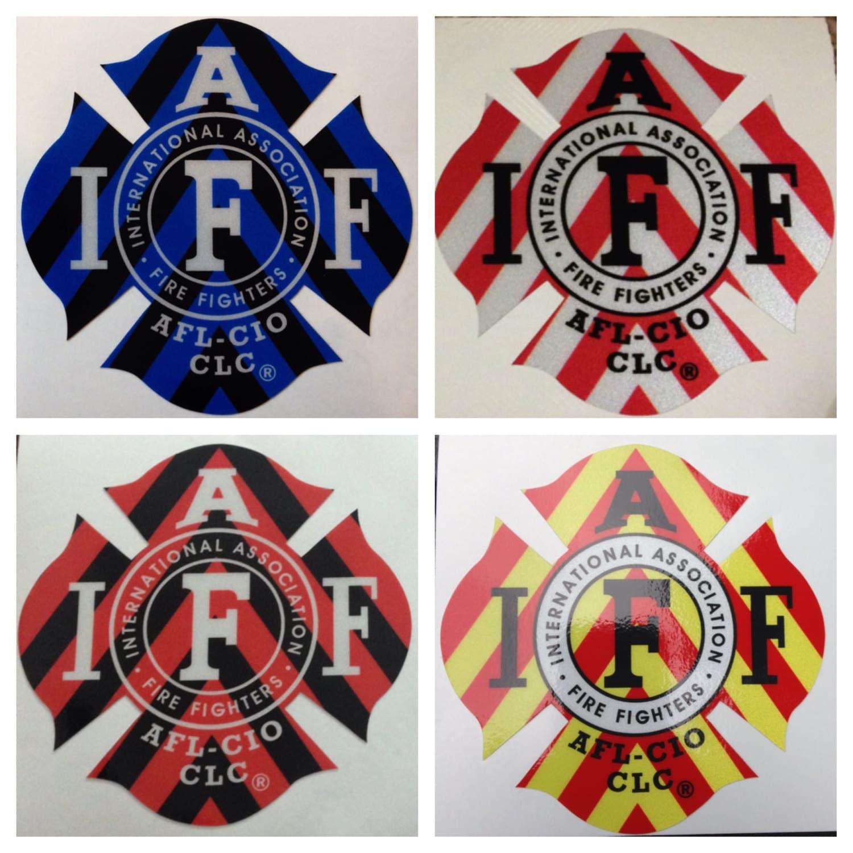 IAFF Reflective Career Firefighter EMS EMT Paramedic Chevron