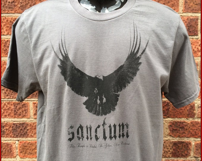 Sanctum - the Vampire Bar from the Phoebe Harkness books by James Fahy comes to a Nameless City Apparel t-shirt - available in white or grey