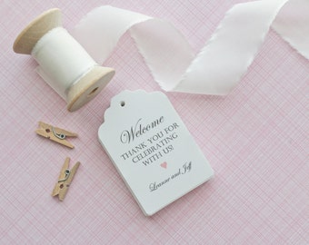 Gift Tags-Wedding Favors-Bridal Shower favors-Candy Bar Tags-Wedding Welcome Tags-Thank You Tags-Set of 40