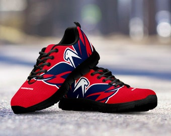 Washington Capitals Fan Custom Unofficial Running Black Shoes/Sneakers/Trainers - Ladies, Mens, Kids Sizes, collector, gift