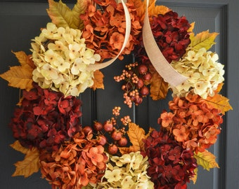 Fall Wreath | Fall Decor | Wreath | Front Door Wreaths | Outdoor Wreath | Fall Wreath for Front Door | Thanksgiving Wreath