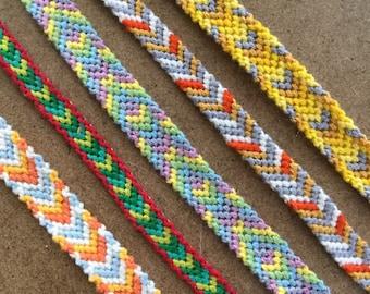 Chevron Woven Friendship Bracelets
