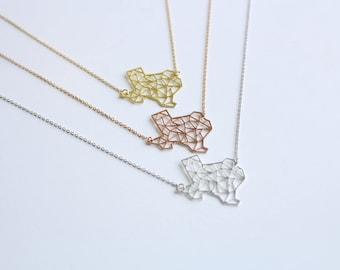 Texas Geometric Necklace | Brass | ATL-N-000