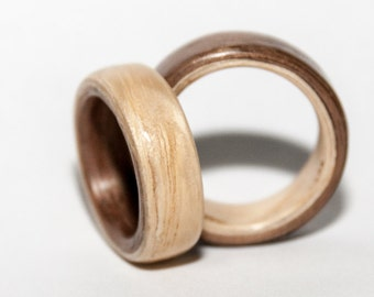 Two colors bentwood ring