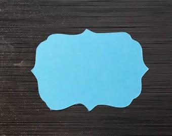 Embellishments label looks like blue sky to write a message
