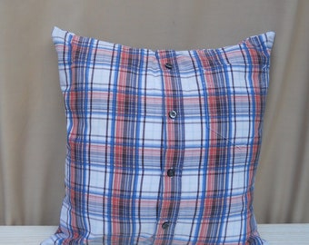 Check Shirt Cushion Cover