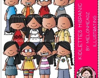 Kidlettes clip art - Hispanic COMBO PACK