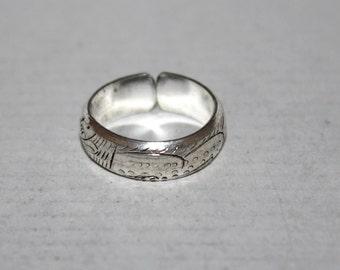 Adjustable ring, Tribal Ring, Boho ring, Dragon ring, Silver ring, Gypsy Ring  BTRB116