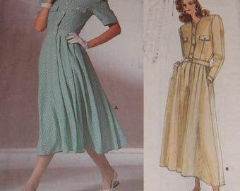 Vogue 1889 American Designer Albert Nipon Vintage Dress Pattern 1889 Size 12