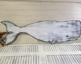 Whale Sign Wall Art Beach House Decor Coastal Living Nautical by CastawaysHall