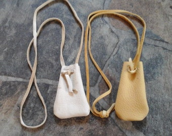 Leather Pouch Drawstring For 2