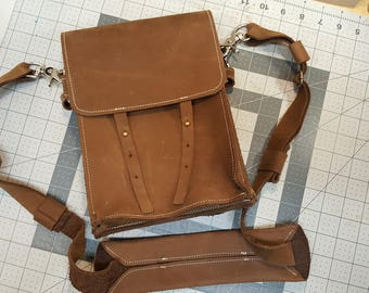 Brown Leather Cross-body Bag