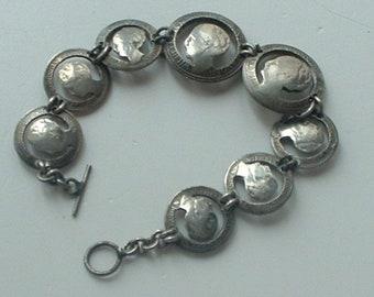 WW2 period coin bracelet