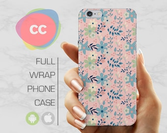 Flowers Phone Case - iPhone 8 Case - iPhone 7 Case - iPhone X, 7, 6, 5S, 5, SE Cases - Samsung S8, S7, S6 Case - iPhone Covers - PC-278