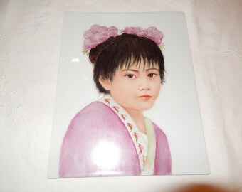 JAPAN ORIGINAL PAINTING on Porcelain