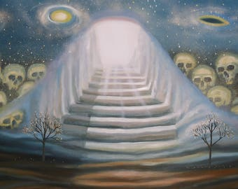 Nameless is the beginning of the end, 2007, oil on canvas, framed 200x100 cm
