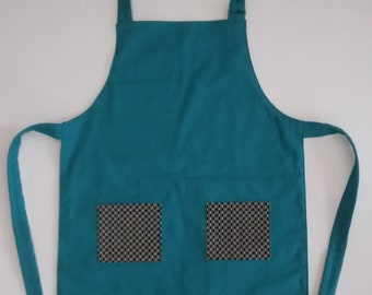 Teal Child's Apron, size 5-6