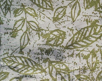 Natural green cotton leaves