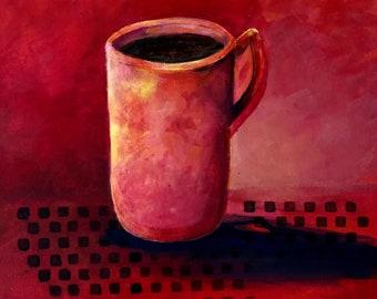 Cup of Jo, small original still life