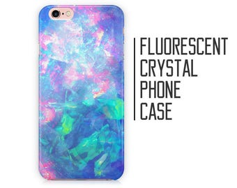 Fluorescent Crystal Phone Case - iPhone X 8 Plus 7 6 6s 5 5s 5c SE + Samsung S6 S7 S8+