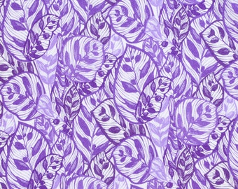 Liberty fabric Tana Lawn Jungle C - 9''x26'' Fat Eighth -purple - 2016 Spring/Summer Collection
