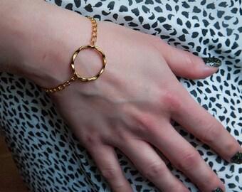 Dainty Bracelet, Gold Bracelet, Layering Bracelet, Eternity Bracelet, Handmade Bracelet, Womens Bracelet, Gift for Women, Gift Idea