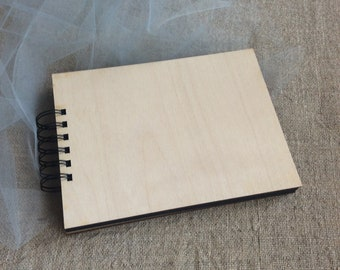 Blank  scrapbooking album, photo album, diy album, scrapbooking supplies, blank journal wood cover