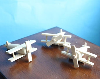 Unpainted Craft Airplane Wood Toy Plane, smash the cake, overthetopcaketopper, Centerpiece, Keepsake, Creative, Babyshower, Party Idea