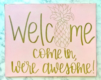 welcome - hand lettering art