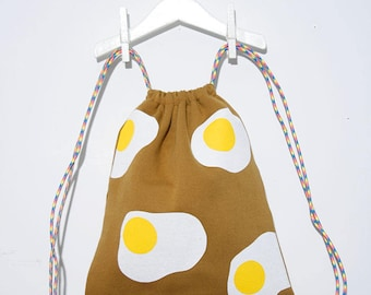 Fried egg travel backpack/bag